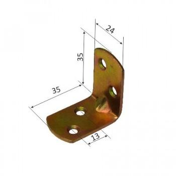 COLTAR METALIC DREPTUNGHIULAR 24/35X35MM