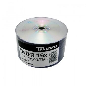 DVD-R Traxdata, 4.7GB, 16x, 50 buc