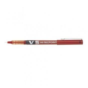 Roller Pilot V5 Hi-Tecpoint, 0.5 mm, rosu