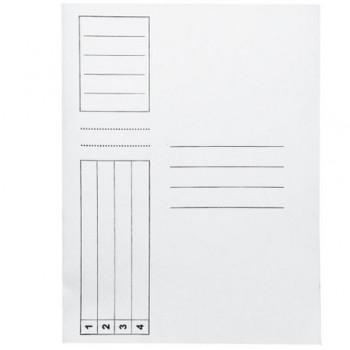 Dosar cu sina, carton, 230 gr/mp, alb