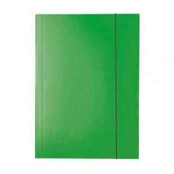 Mapa carton Esselte Economy, A4, inchidere cu elastic, verde