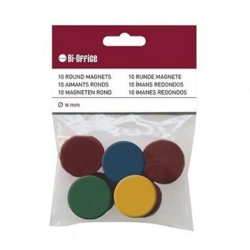 Magneti Bi-Silque, 10 bucati/set, diverse culori, 10 mm