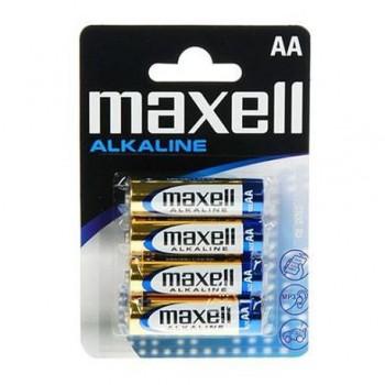 Baterii alcalina Maxell, 1.5V, LR6 AA, 4 bucati/set