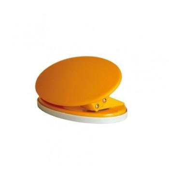 Perforator plastic Tu-k-no, 15 coli, portocaliu