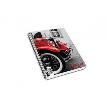 Caiet Skag Red Collection, A6, cu spira si 2 diviziuni, dictando