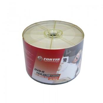 DVD-R Fortis printabil, 4.7GB, 16x, 50 buc