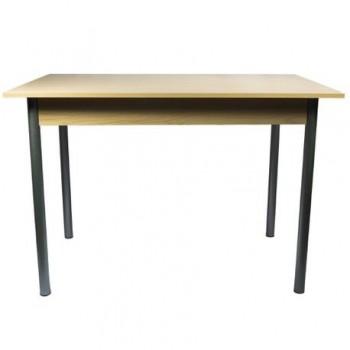 Masa cu picioare metalice, blat dublu, 200 x 90 x 78 cm