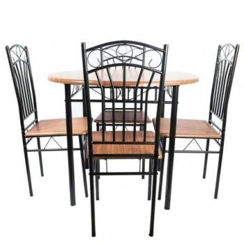 Set masa Olivia + 4 scaune, nuc