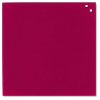 Tabla magnetica de sticla Naga, 45 x 45, rosu