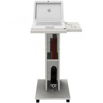 Pupitru mobil laptop, stejar alb