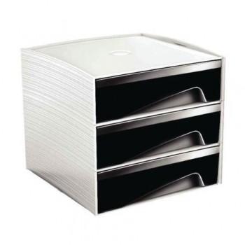 Suport 3 sertare MyCube, negru