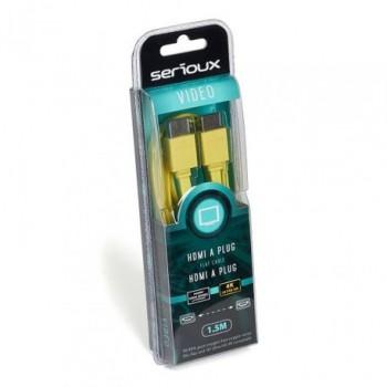 Cablu video Serioux, HDMI tata - HDMI tata, suporta rezolutii pana la 4K2K (4090x2160 pixeli), compatibil Blu-Ray si 3D, conductori 99.99% cupru fara