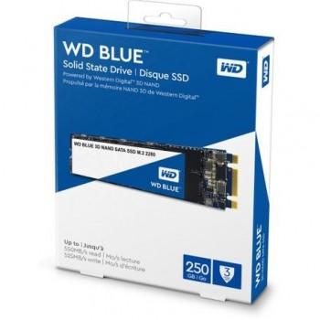 SSD WD, 250GB, Blue, M.2 2280, 3D NAND, rata transfer r/w 560mbs/530mbs