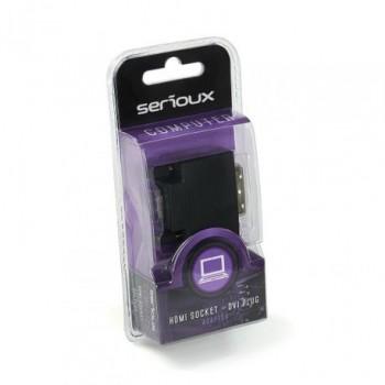 Adaptor Serioux, HDMI mama - DVI tata, conectori auriti, negru