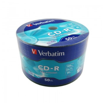 CD-R Verbatim, 700MB, 52x, 50 buc