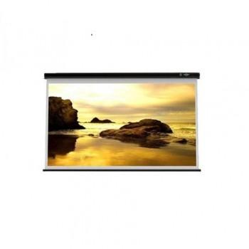 Ecran de proiectie montabil pe perete Sopar New Slim 200 x 150cm(4:3), Mecanism de blocare, suport negru, 2201SL