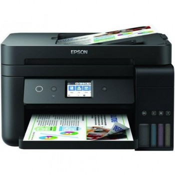 Multifunctional inkjet color Epson EcoTank CISS L6190, dimensiune A4 (Printare,Copiere, Scanare, Fax), printare borderless, viteza 33ppm alb-negru,