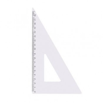 Echer dreptunghiular 18 cm, plastic transparent