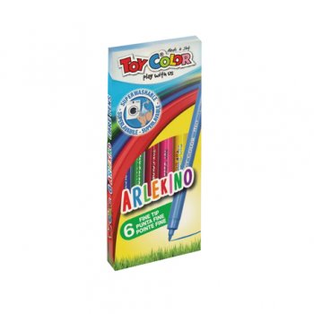 Carioci Toy Color Arlekino, 6 culori