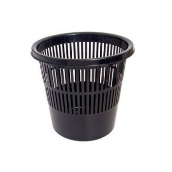 Cos de birou, din plastic, 8 l, negru