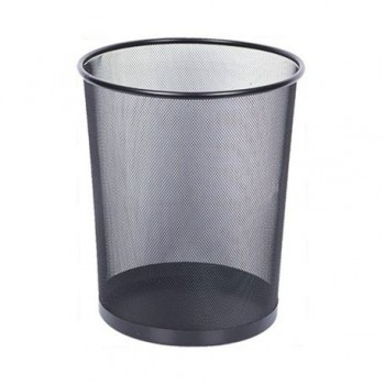 Cos de birou metalic, mesh, 18 l, negru