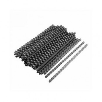 Spire de plastic Fellowes, 16 mm, 100 bucati/set, negru