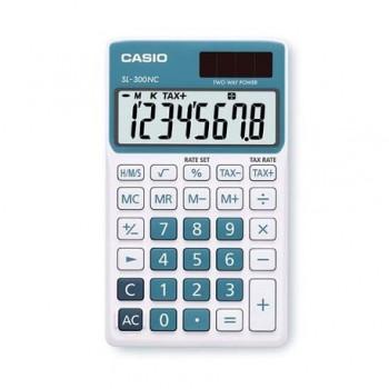 Calculator de buzunar Casio SL-300NC, 8 digits, albastru