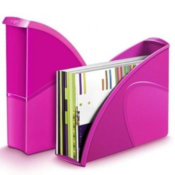 Suport vertical documente CEP Gloss, roz