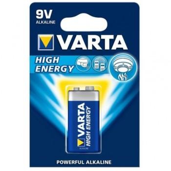 Baterie alcalina Varta High Energy, 9V LR22