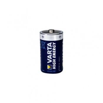 Baterie alcalina Varta High Energy, 1.5V R20, 2 bucati/set