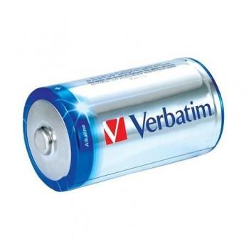 Baterie alcalina Verbatim, 1.5V R14, 2 bucati/set