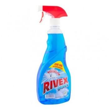 Detergent pentru geamuri Rivex, cu pulverizator, 750 ml