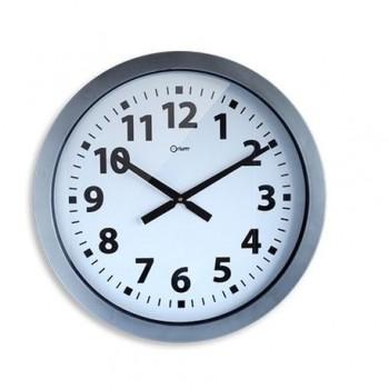 Ceas de perete gigantic CEP, 60 cm, argintiu