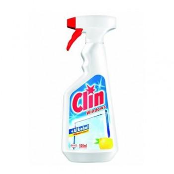 Detergent pentru geamuri Clin, cu pulverizator, 500 ml, lemon
