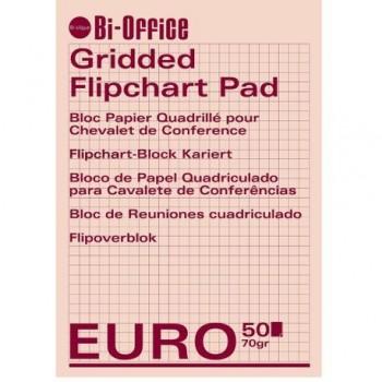 Hartie pentru flipchart Bi-Silque, caroiata, 100 x 65 cm, 70 gr/mp 50 coli/top