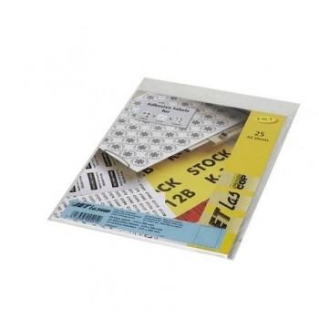 Etichete autoadezive Etilux Jetlascop, 1/A4, 210 x 297 mm, albastru, 25 coli/top