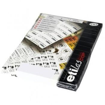 Etichete autoadezive Etilux  Etilascop, 18/A4, 63.5 x 46.6 mm, alb, 100 coli/top