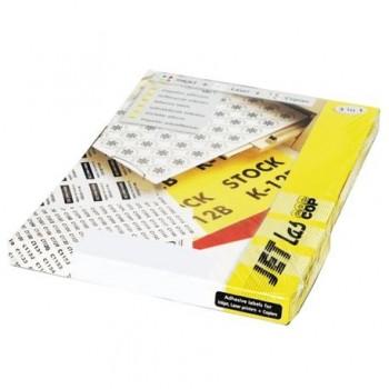 Etichete autoadezive Etilux Jetlascop, 4/A4, galben