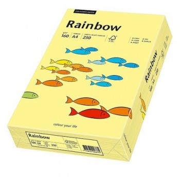 Carton A4 Rainbow, 160 g/mp,  250 coli/top, galben pastel