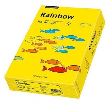 Carton A4 Rainbow, 160 g/mp,  250 coli/top, galben intens