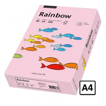 Hartie A4 Rainbow, 80 g/mp, 500 coli/top, roz pastel