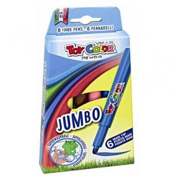 Carioci Toy Color Jumbo, 6 culori