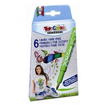 Carioci pentru textile Toy Color, 6 culori