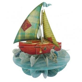 Felicitare 3D Pirouettes, barca