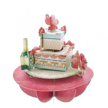 Felicitare 3D Pirouettes, tort