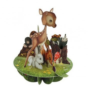 Felicitare 3D Pirouettes, pui animale