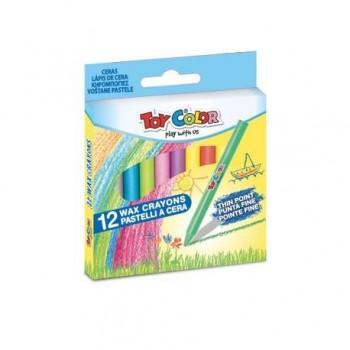 Creioane cerate Toy Color, 12 bucati
