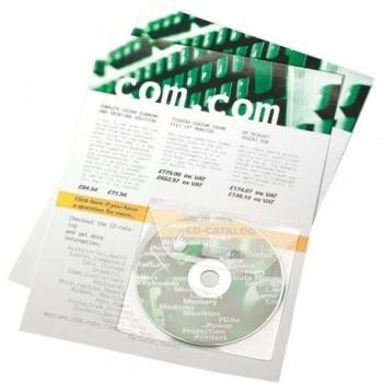 Buzunar autoadezive 3L Office, pentru CD-uri, 10 bucati/set