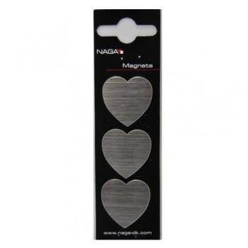 Magneti metalici Naga, in forma de inima