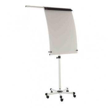 Flipchart magnetic mobil Bi-Silque Roll-up, rama din aluminiu, 70 x 100 cm